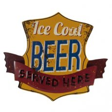 "Tekstbord ""Ice cold Beer"" - 35 cm"