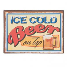 "Magneet ""Ice cold beer"" - 7 cm"