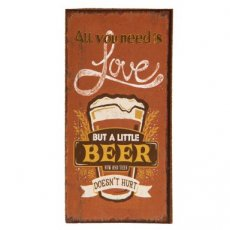 "Magneet ""All you need is beer"" - 10 cm"