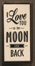 "Magneet ""I love you to the moon and back!"""