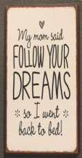 "Magneet ""My mom said, follow your dreams... """