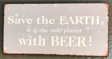 "Magneet ""Save the earth, ... """